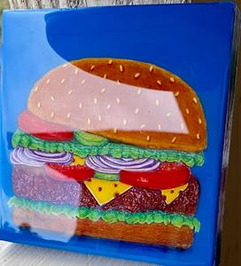 Detail Image for art Cheeseburger with Resin Top Coat