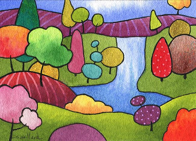 Art: Hidden Falls by Artist Sandra Willard