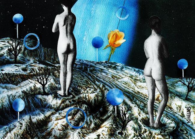 Art: Old Bonds Are Broken Down, Love is Gone - Joni Mitchell by Artist Vicky Helms