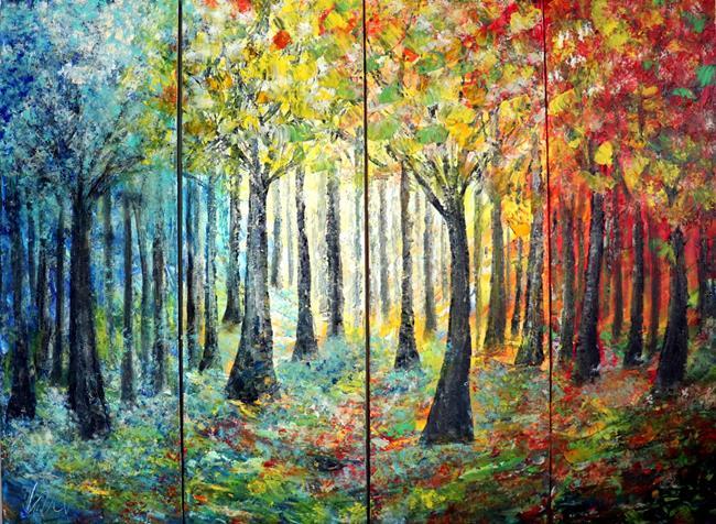 Art: TREES IN BLOOM by Artist LUIZA VIZOLI