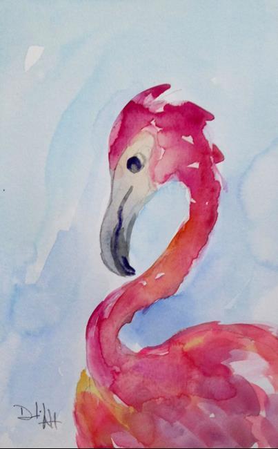 Art: Flamingo No. 38 by Artist Delilah Smith