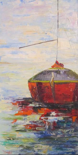 Art: Sailboat No. 28 by Artist Delilah Smith