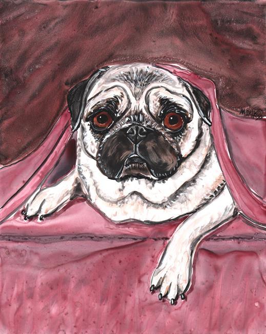Art: Undercover Pug by Artist Melinda Dalke