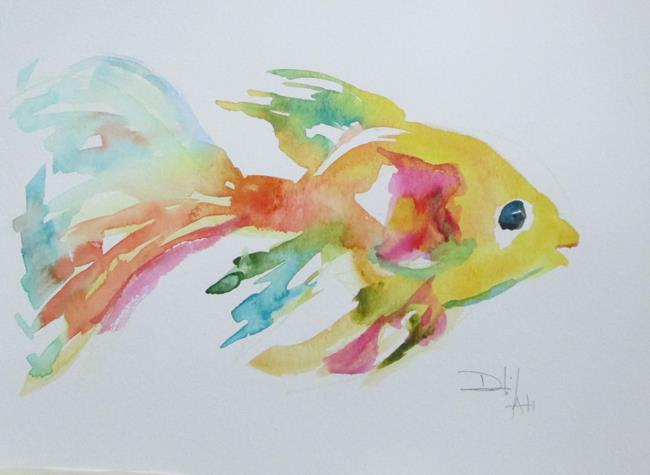 Art: Colorful Tropical Fish by Artist Delilah Smith