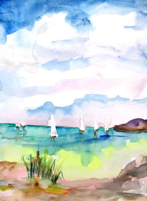 Art: An Ocean of Sailboats by Artist Delilah Smith