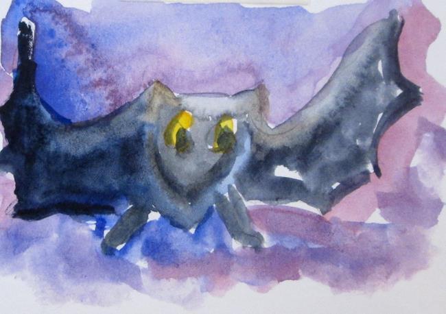 Art: Flying Bat by Artist Delilah Smith