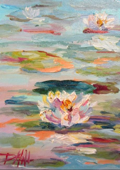 Art: Waterlilies by Artist Delilah Smith