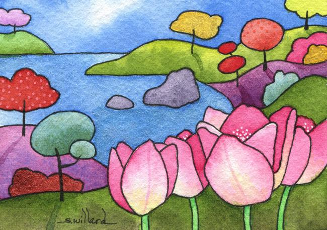 Art: Tulip Cove by Artist Sandra Willard