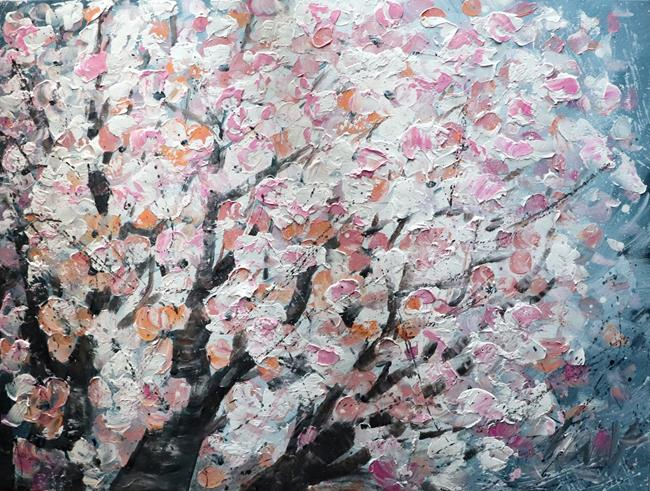 Art: Pink Flowers Blossom SAKURA by Artist LUIZA VIZOLI