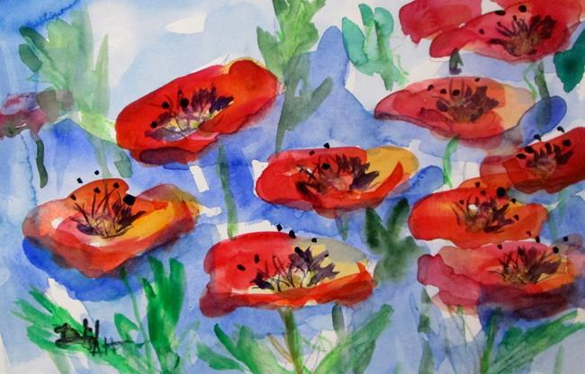 Art: Poppy Field by Artist Delilah Smith