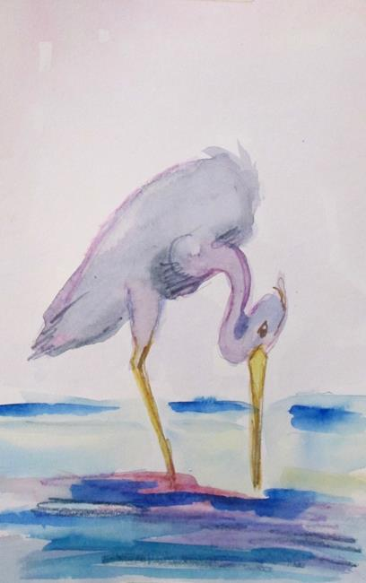 Art: Heron No. 8 by Artist Delilah Smith