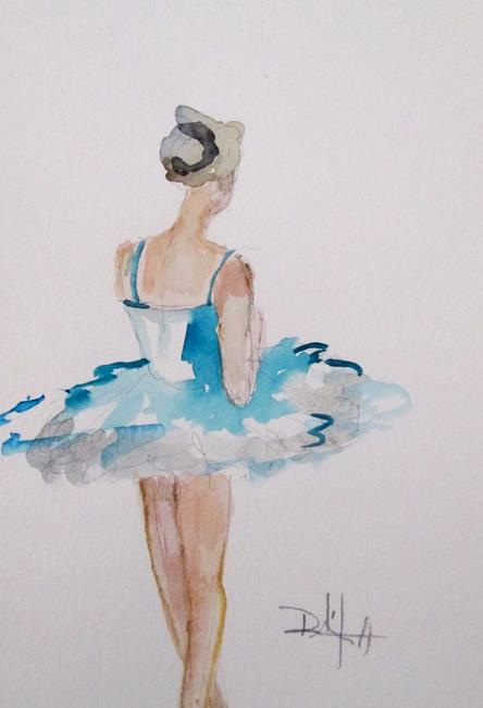 Art: Blue Tutu by Artist Delilah Smith