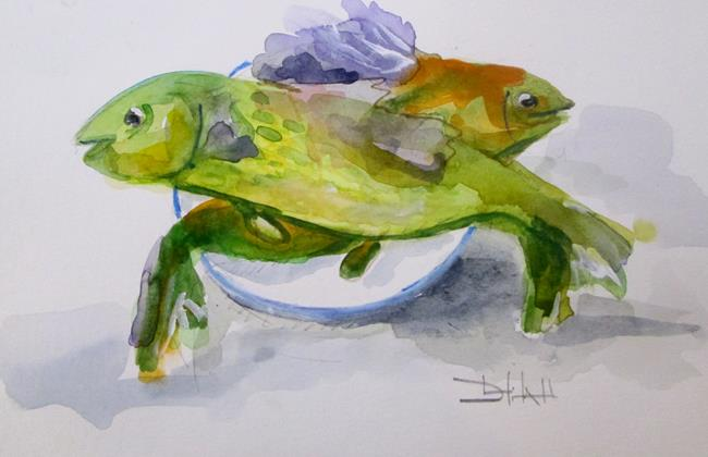 Art: Fresh Fish by Artist Delilah Smith