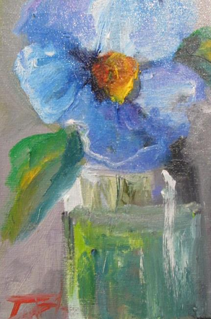 Art: Blue Flower by Artist Delilah Smith