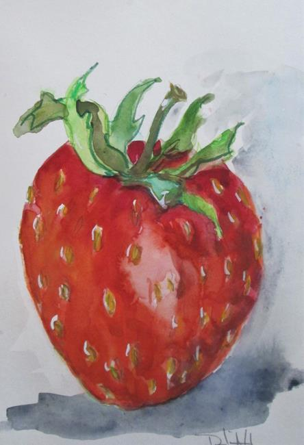 Art: One Red Strawberry by Artist Delilah Smith
