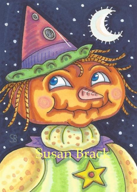 Art: PUMPKIN PINOCCHIO by Artist Susan Brack