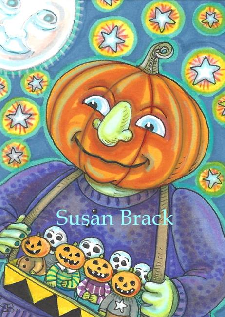 Art: PUMPKIN VENDOR by Artist Susan Brack