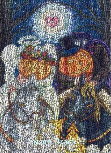 Art: SLEEPY HOLLOW WEDDING Needlework by Artist Susan Brack