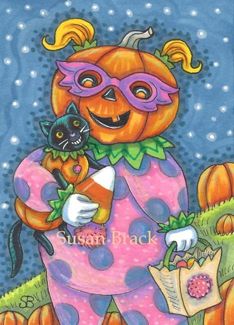 Art: TRICK OR TREATERS by Artist Susan Brack
