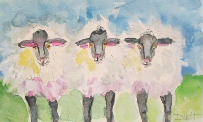 Art: Three Lambs by Artist Delilah Smith