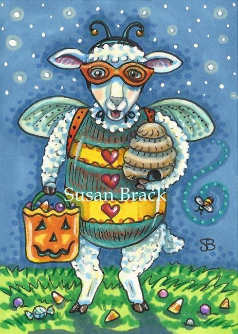 Art: BAH BAH BUMBLEBEE by Artist Susan Brack