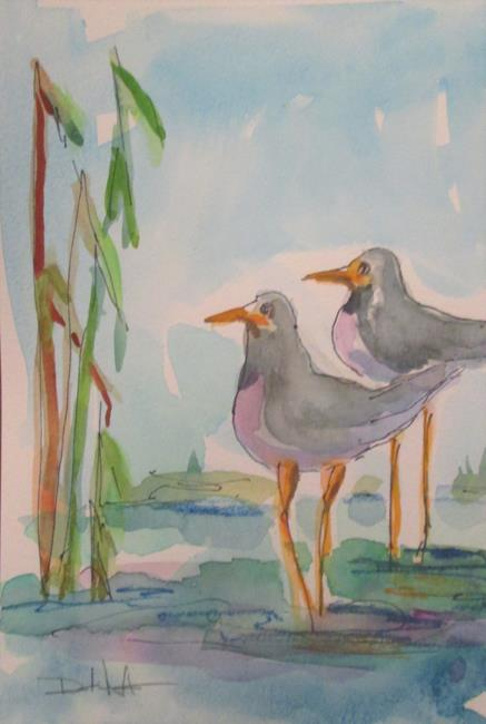 Art: Two Birds by Artist Delilah Smith