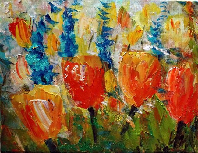 Art: Early Blossom Spring Flowers by Artist LUIZA VIZOLI