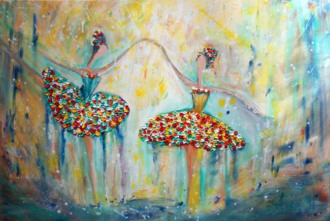 Art: BALLERINAS SUMMER Ballet by Artist LUIZA VIZOLI