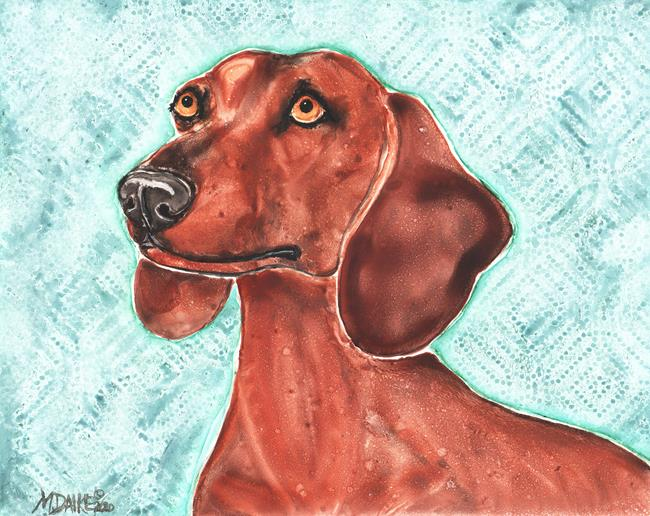 Art: Impression of a Dachshund by Artist Melinda Dalke