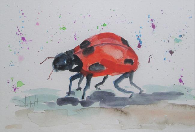 Art: Run Away Lady Bug by Artist Delilah Smith