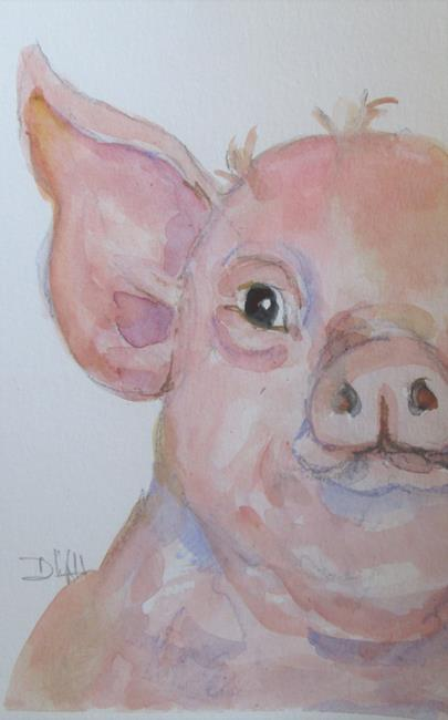 Art: Fat Pig by Artist Delilah Smith