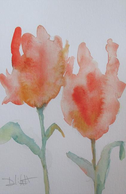 Art: Orange Flowers by Artist Delilah Smith
