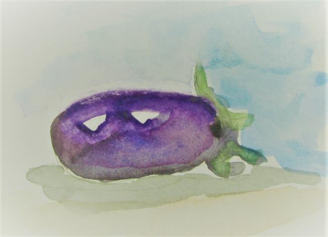 Art: Purple Eggplant by Artist Delilah Smith