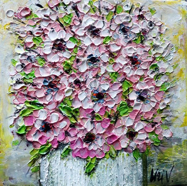 Art: Pink Bouquet by Artist LUIZA VIZOLI