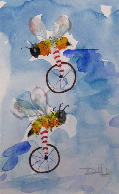 Art: Biker Bees No. 3 by Artist Delilah Smith