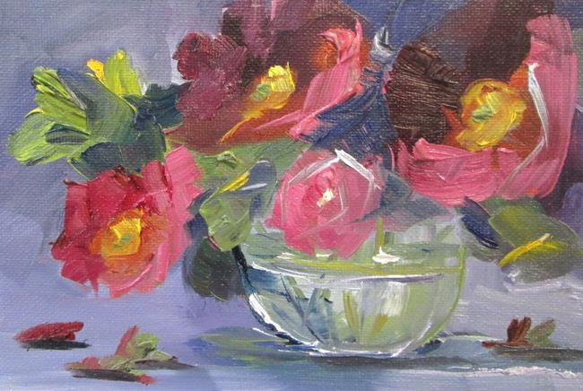 Art: Pink Flowers in Water by Artist Delilah Smith