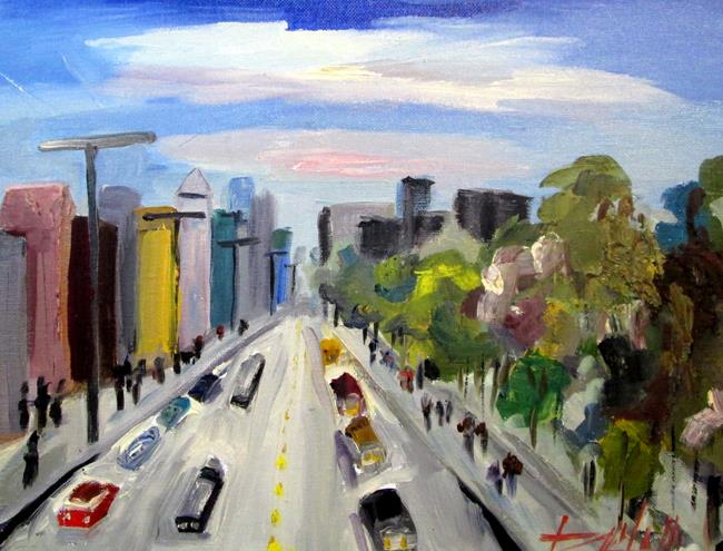Art: Urban Traffic by Artist Delilah Smith