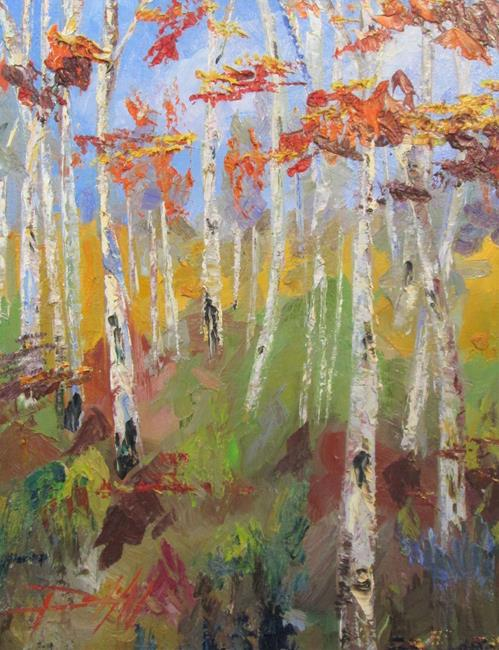 Art: Brush Strokes of Birches by Artist Delilah Smith
