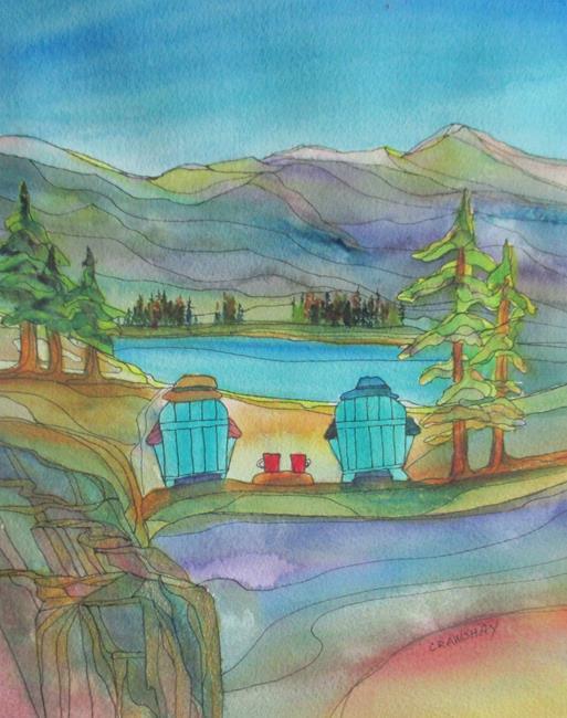 Art: Coffee Break (sold) by Artist Kathy Crawshay
