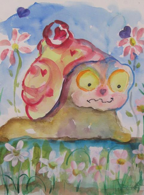 Art: Love Snail by Artist Delilah Smith