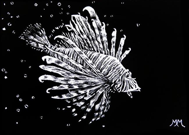Art: Fish Bubbles  (SOLD) by Artist Monique Morin Matson