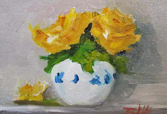 Art: Two Yellow Roses by Artist Delilah Smith