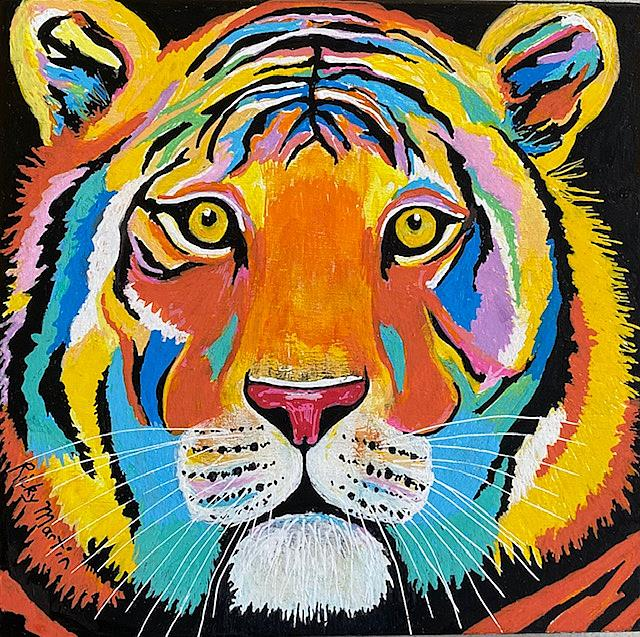 Art: Pop Art Tiger by Artist Ulrike 'Ricky' Martin