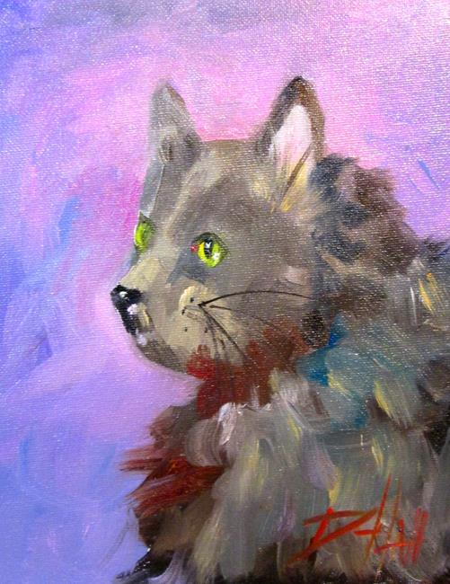 Art: Fuzzy Cat No. 2 by Artist Delilah Smith