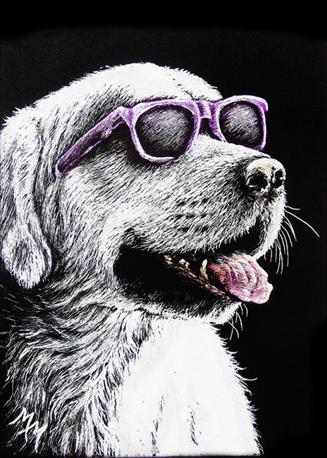 Art: Staying Cool  (SOLD) by Artist Monique Morin Matson