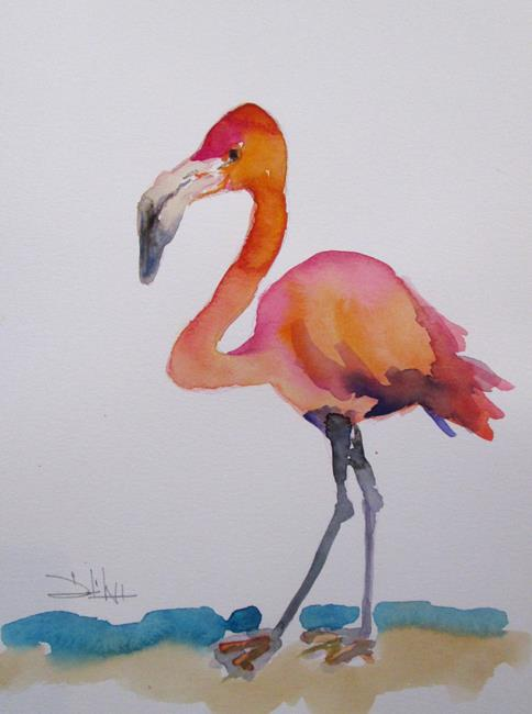 Art: Flamingo No. 39 by Artist Delilah Smith
