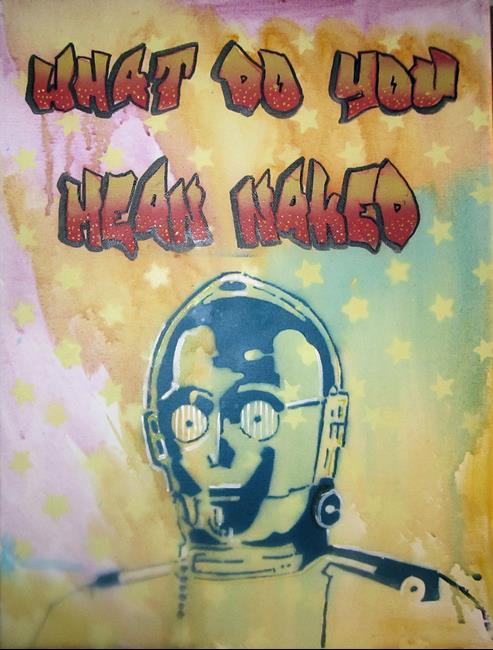 Art: C3PO Naked by Artist Paul Lake, Lucky Studios