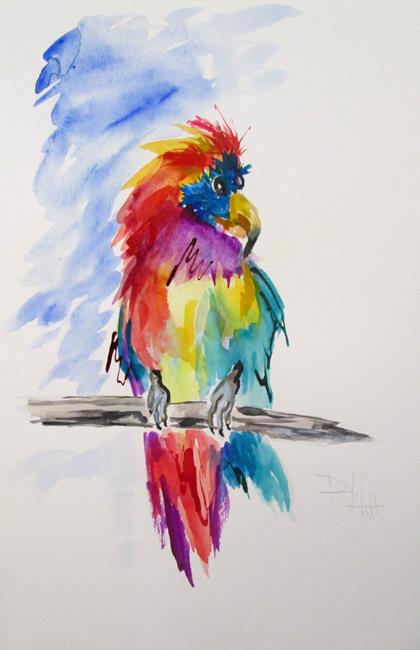 Art: Colorful Parrot by Artist Delilah Smith
