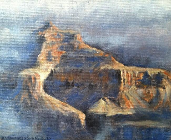 Art: Isis Temple, Grand Canyon, Oil Study by Artist Kimberly Vanlandingham