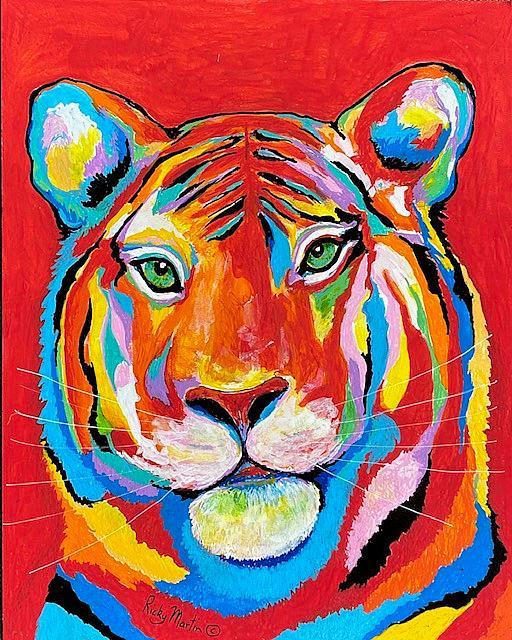 Art: Tiger Pop Art by Artist Ulrike 'Ricky' Martin
